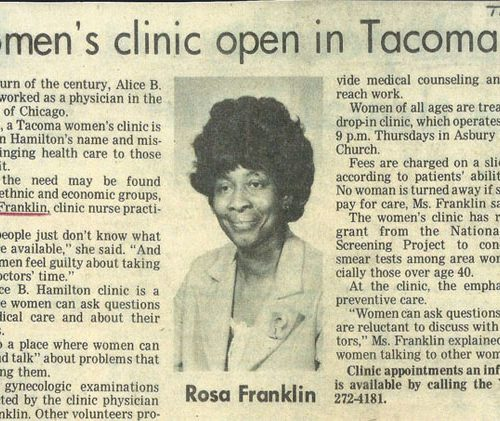 Rosa Franklin – article Women's Clinic.